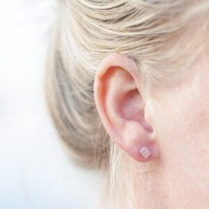 Krystal turmalin øreringe