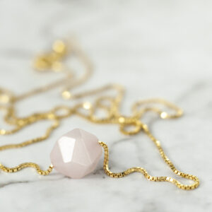 Rosa kvarts rosenkvarts halskæde