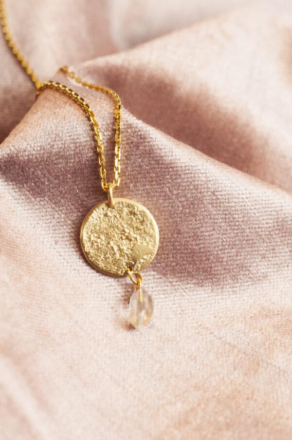Herkimer diamant halskæde moon dancer