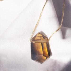 citrin halskæde
