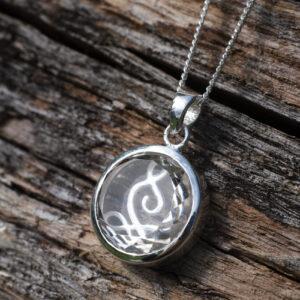 Mindfulness og yoga halskæden sølv