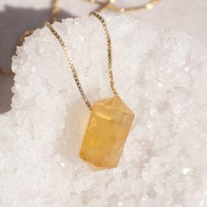 citrin halskæde 11