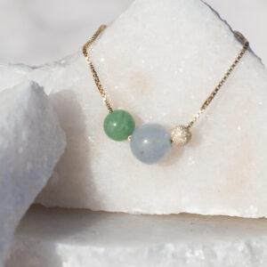 Unity grøn jade og akvamarin